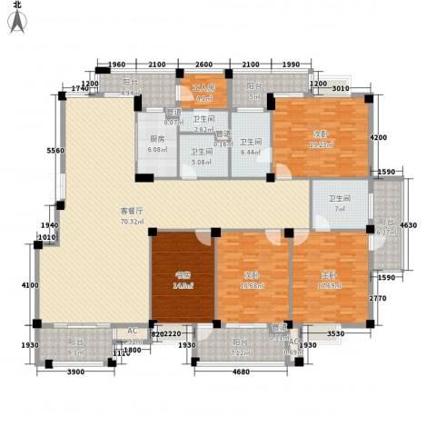 东源北院4室1厅4卫1厨219.00㎡户型图