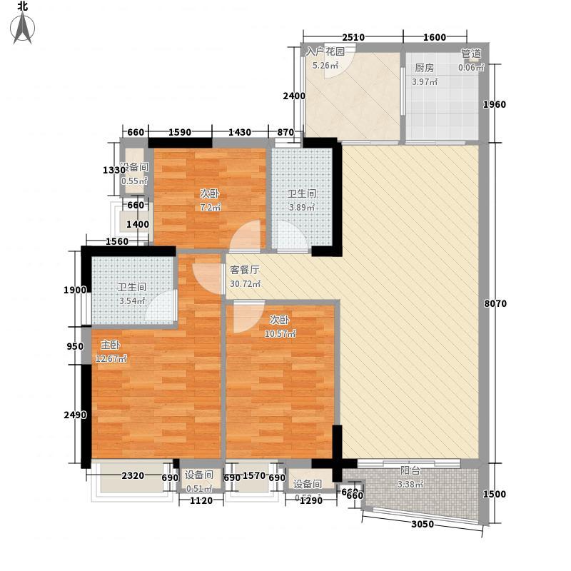 宝安36区住宅楼93.00㎡宝安36区住宅楼3室户型3室