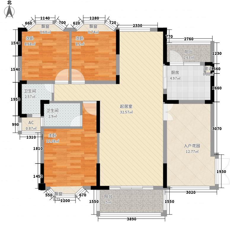 凰樵圣堡户型图40座首层01单位  3室2厅