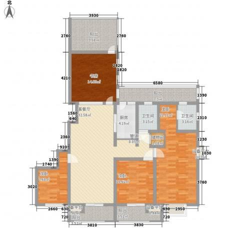 嘉城尚郡4室1厅2卫1厨179.00㎡户型图
