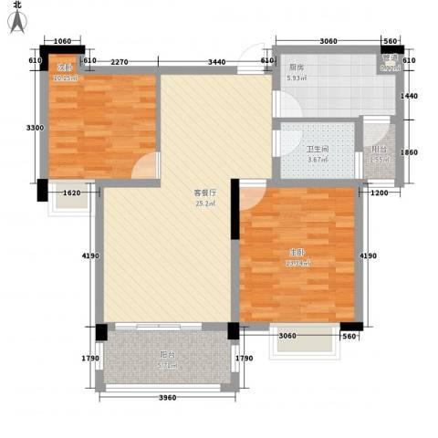 京东小区C区2室1厅1卫1厨95.00㎡户型图