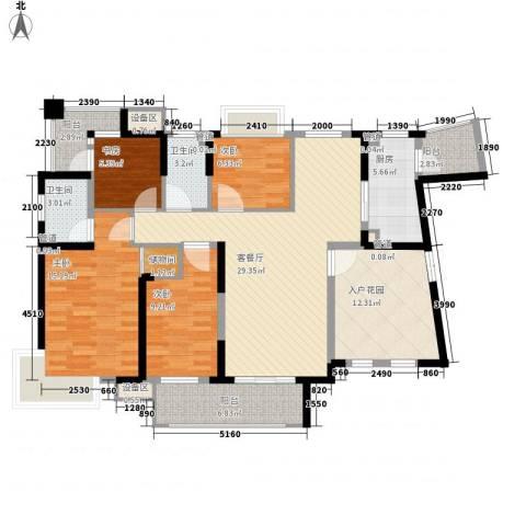 发能太阳海岸4室1厅2卫1厨156.00㎡户型图