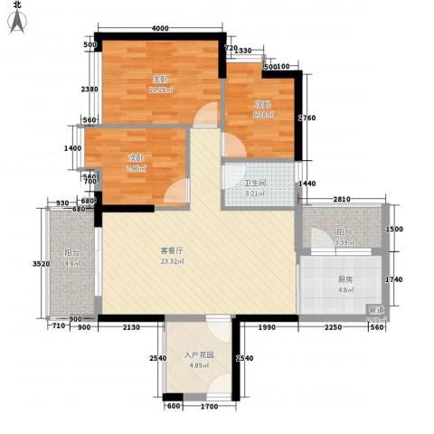 可逸家园3室1厅1卫1厨98.00㎡户型图