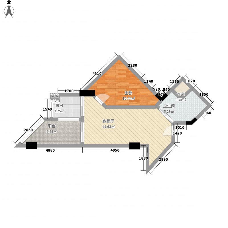 博鳌・白马郡83.28㎡博鳌・白马郡户型图I户型1室1厅1卫1厨户型1室1厅1卫1厨