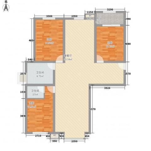 青川嘉园3室1厅2卫0厨151.00㎡户型图