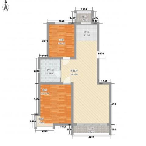 艺术家园2室1厅1卫0厨105.00㎡户型图