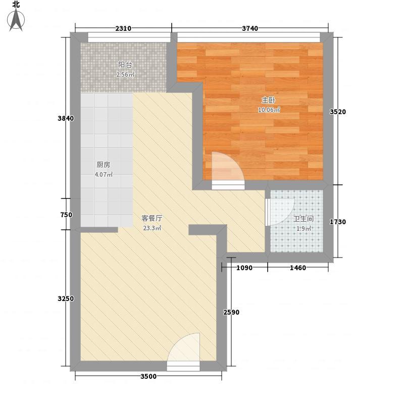 广汇桂林郡41.77㎡天鹅堡C户型1室1厅1卫1厨