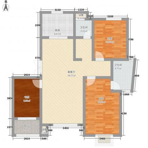 映象西班牙3室1厅2卫1厨115.00㎡户型图