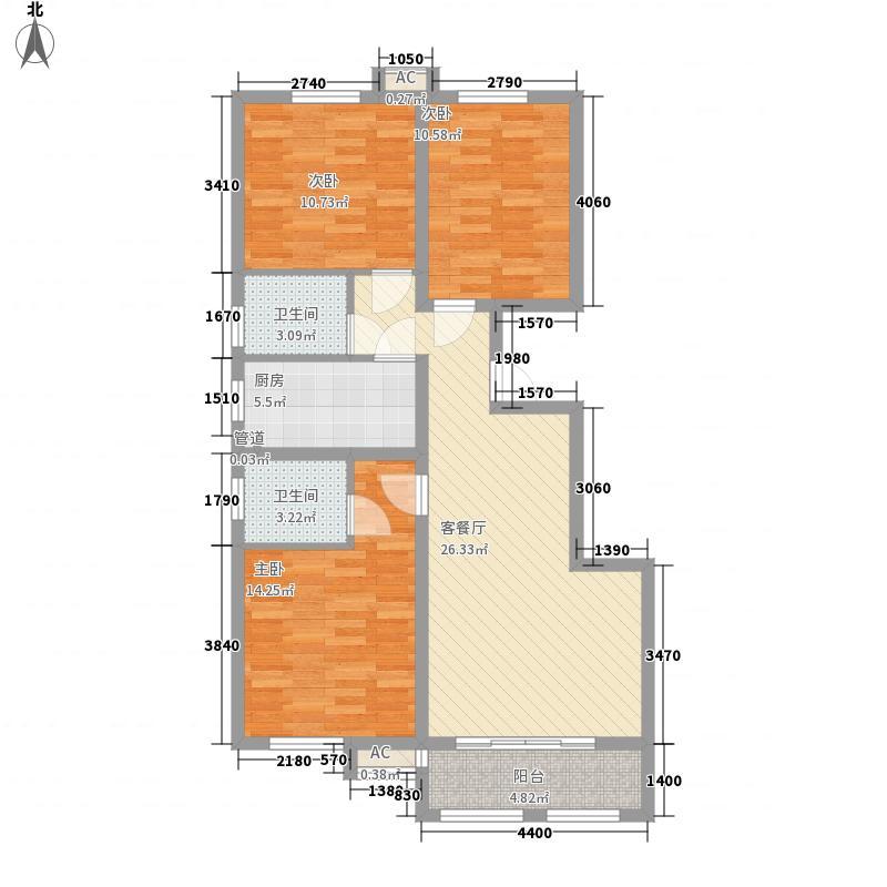 美和蓝湾115.00㎡美和蓝湾户型图丁户型115㎡3室2厅2卫1厨户型3室2厅2卫1厨