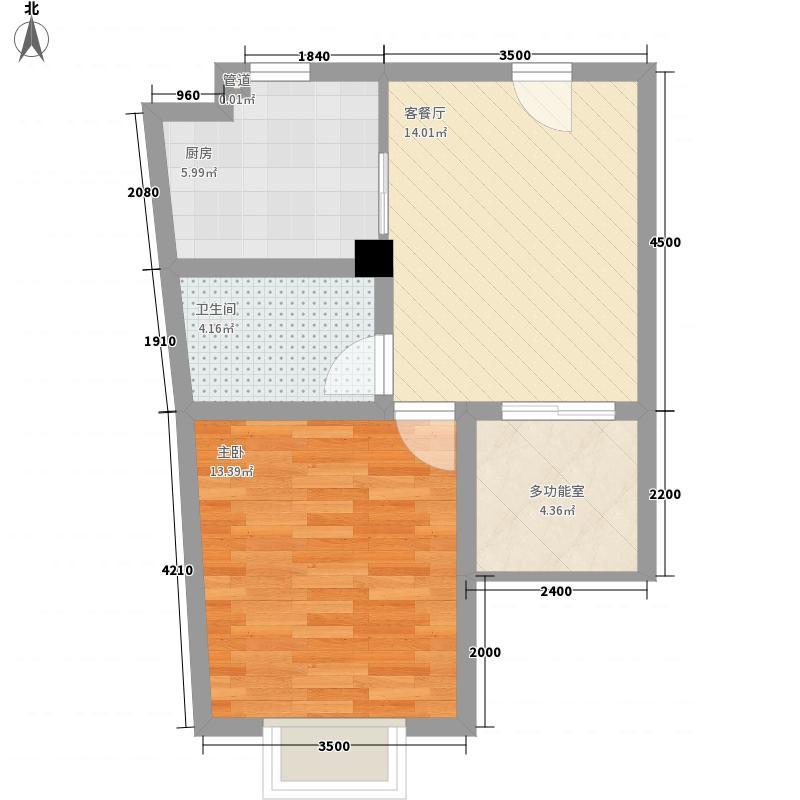 后海口58.34㎡后海口户型图D户型1室1厅1卫1厨户型1室1厅1卫1厨