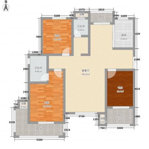映象西班牙3室1厅2卫1厨134.00㎡户型图