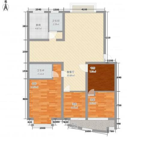 金峰沐春园4室1厅2卫1厨119.00㎡户型图