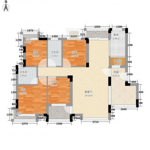 锦绣花园(龙华)4室1厅2卫1厨105.00㎡户型图