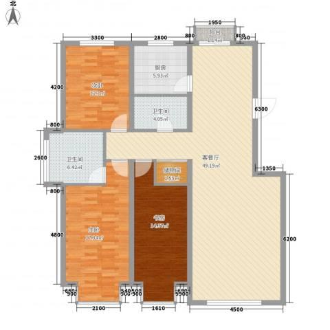 武夷嘉园3室1厅2卫1厨153.00㎡户型图