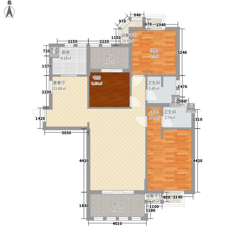 永嘉天地123.00㎡永嘉天地户型图1号楼标准层1单元A户型2室2厅2卫1厨户型2室2厅2卫1厨