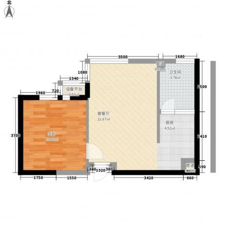 宅语原1室1厅1卫0厨53.00㎡户型图