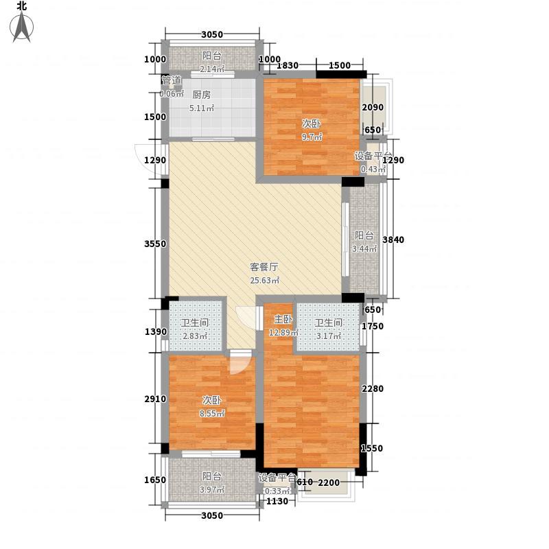 柏林印象115.17㎡D7户型3室2厅2卫1厨
