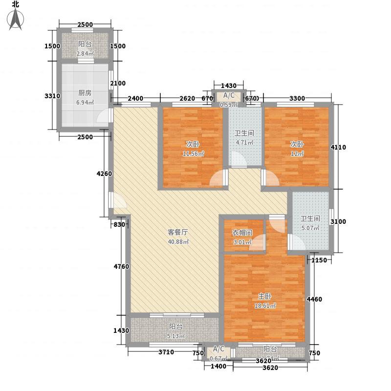金川科技园158.00㎡E户型3室2厅2卫1厨