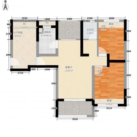 凯迪公元2室1厅1卫1厨98.00㎡户型图