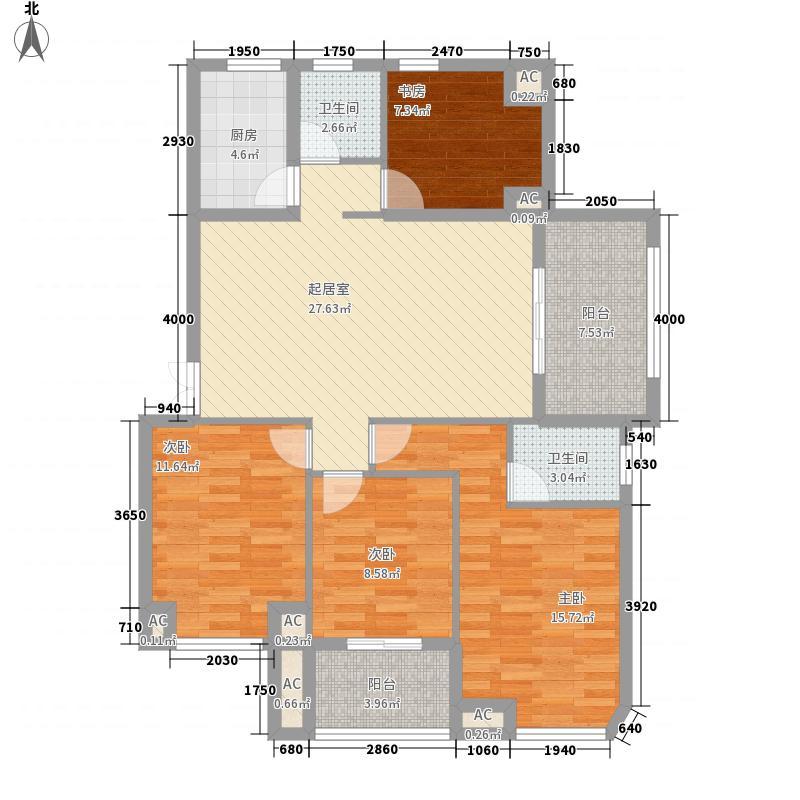 博仕后公馆118.00㎡A9#楼01单元户型3室2厅2卫1厨