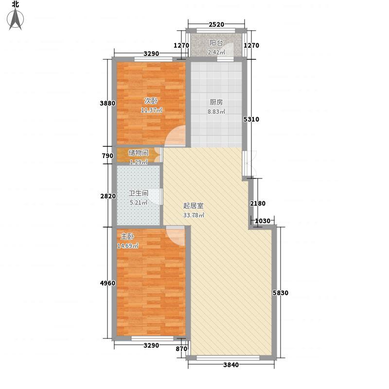 美好愿景108.00㎡美好愿景户型图B9户型2室2厅1卫户型2室2厅1卫