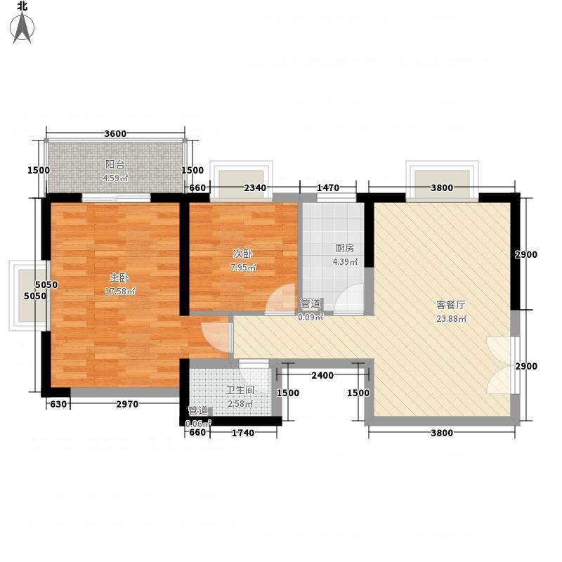 紫荆花园89395.00㎡紫荆花园户型图B户型2室2厅1卫1厨户型2室2厅1卫1厨