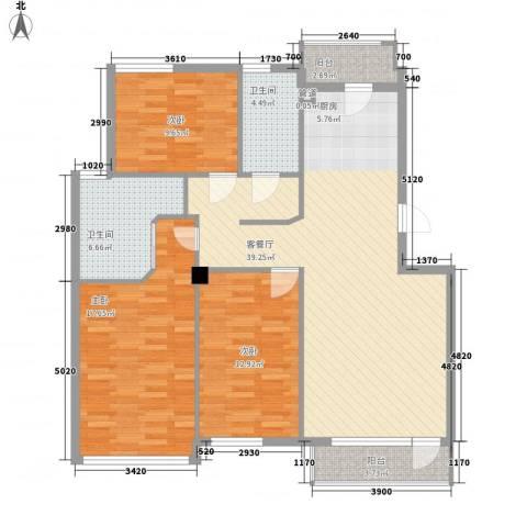 解放广场3室1厅2卫0厨135.00㎡户型图