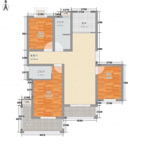 映象西班牙3室1厅2卫1厨124.00㎡户型图