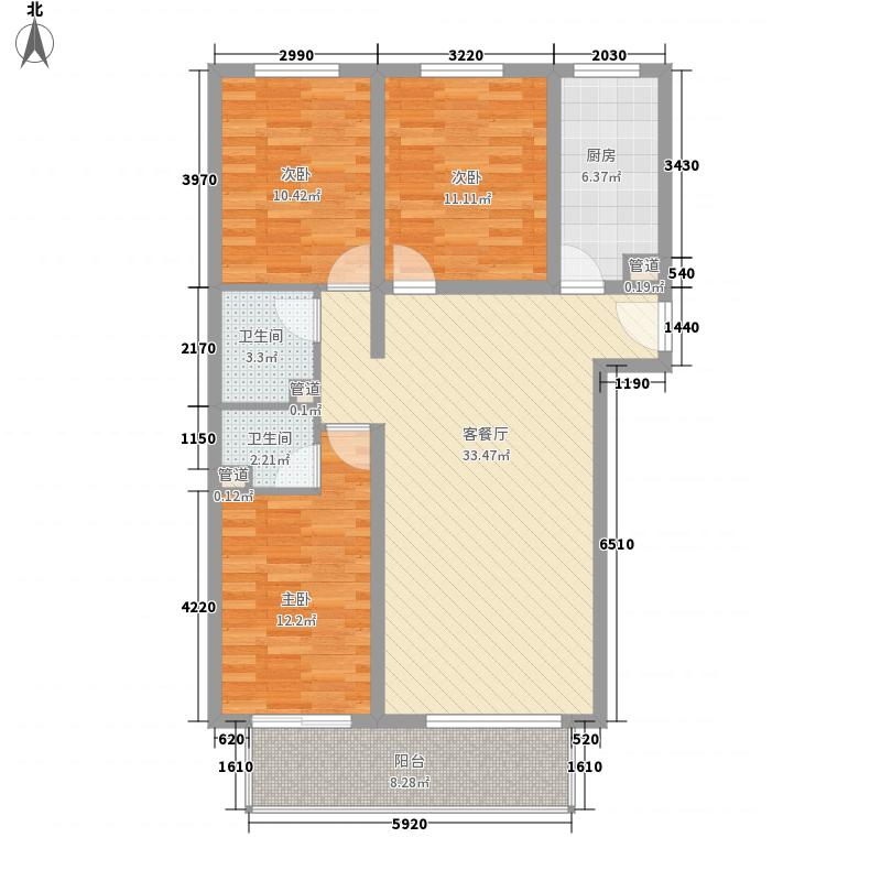 阳光水岸125.00㎡保定B1面积12500m户型