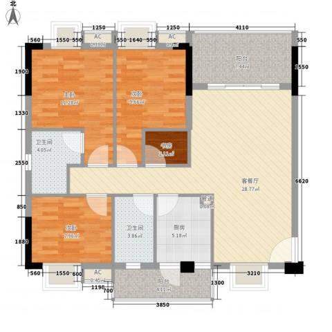 穗和城4室1厅2卫1厨122.00㎡户型图