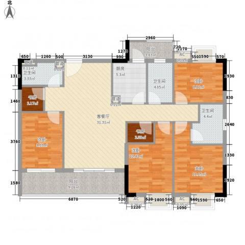 穗和城6室1厅3卫1厨150.00㎡户型图