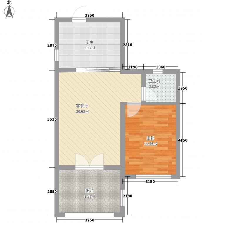 长涛美岭湖63.64㎡长涛美岭湖户型图A-C公寓户型图1室2厅1卫1厨户型1室2厅1卫1厨