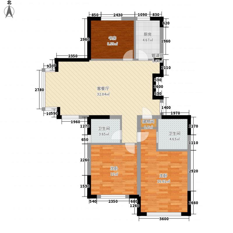 新湖明珠城116.82㎡新湖明珠城户型图户型C3室2厅2卫户型3室2厅2卫
