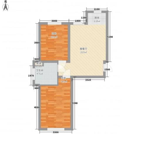 温哥华森林2室1厅1卫0厨53.00㎡户型图