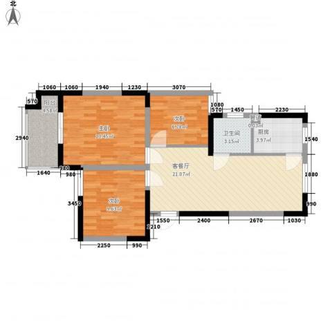 光盛豪庭3室1厅1卫1厨90.00㎡户型图