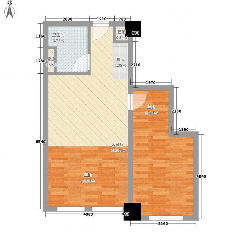 苏豪银座67.60㎡B4户型1室1厅1卫