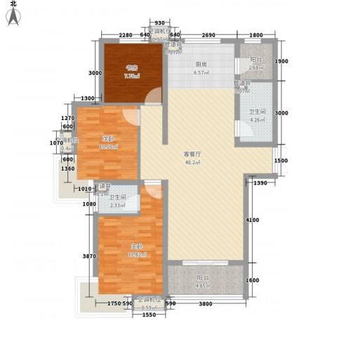 尚层名筑3室1厅2卫0厨125.00㎡户型图