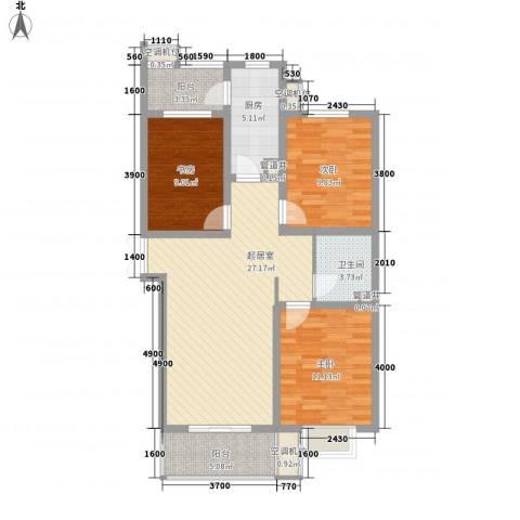 尚层名筑3室0厅1卫1厨111.00㎡户型图