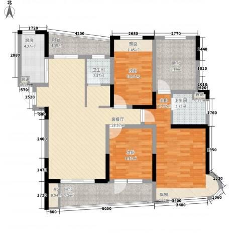 凯迪公元3室1厅2卫1厨143.00㎡户型图