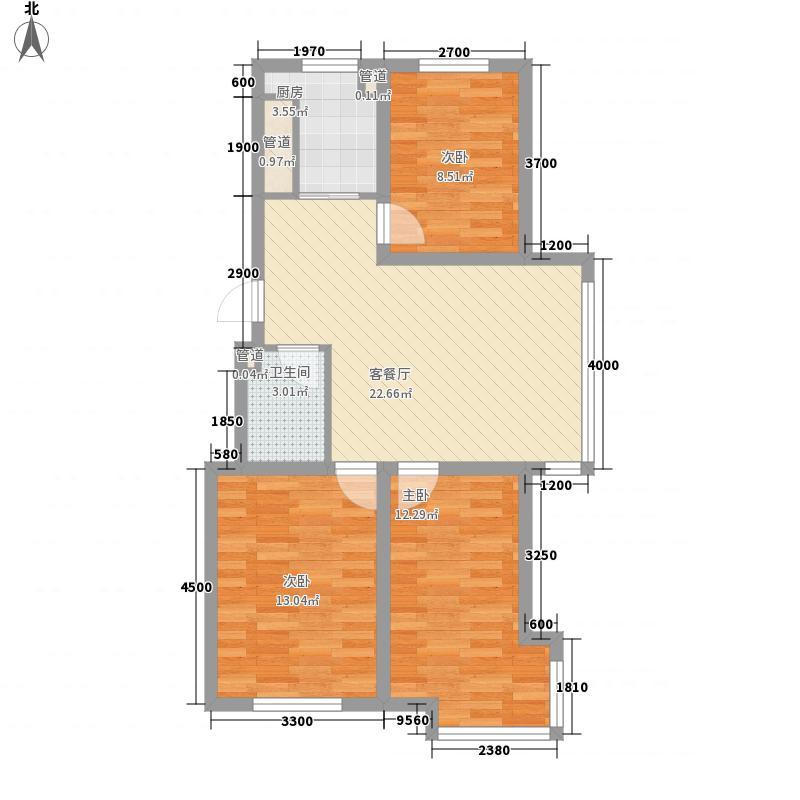 风和美苑92.42㎡风和美苑户型10室