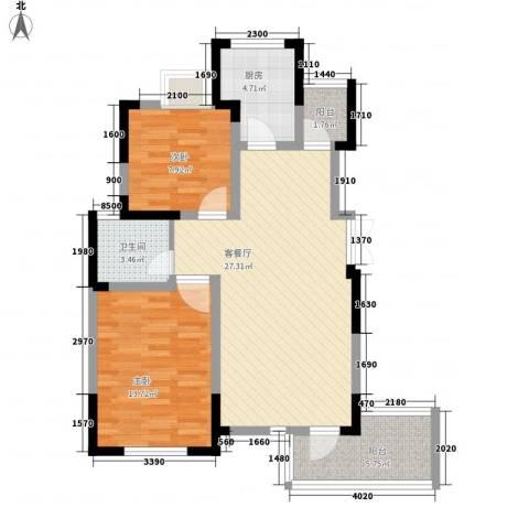 御源林城2室1厅1卫1厨94.00㎡户型图
