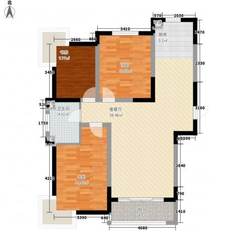 融城时代3室1厅1卫0厨117.00㎡户型图