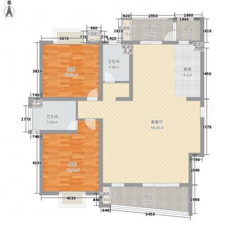 花都艺墅2室1厅2卫0厨158.00㎡户型图
