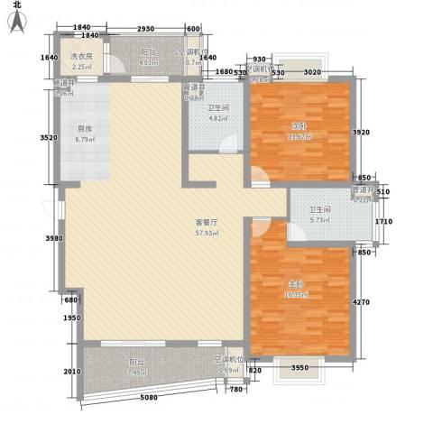 花都艺墅2室1厅2卫0厨162.00㎡户型图