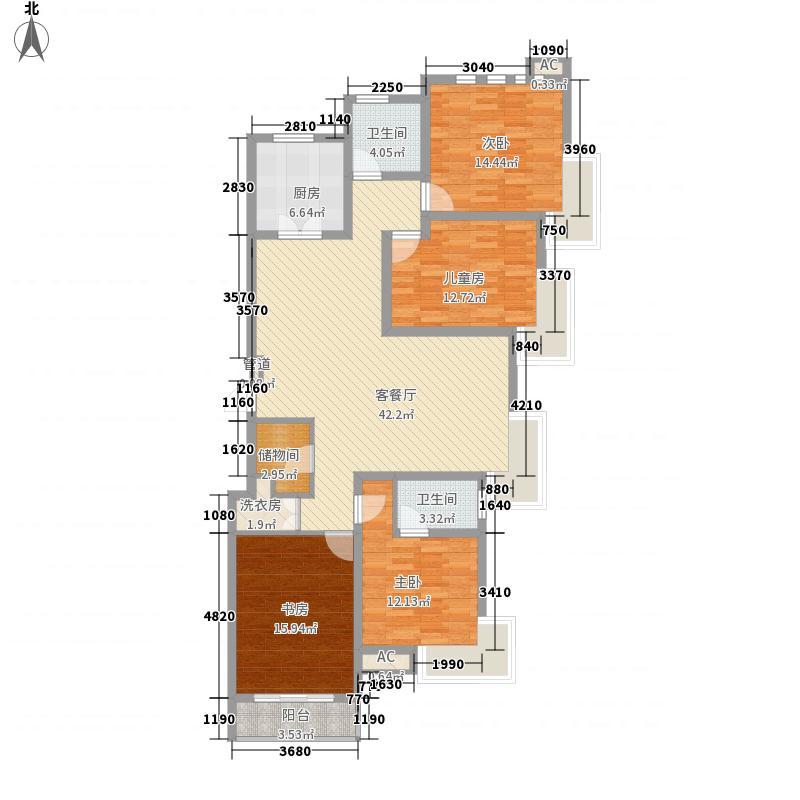 沁林雅苑173.00㎡标准层D户型4室2厅2卫1厨