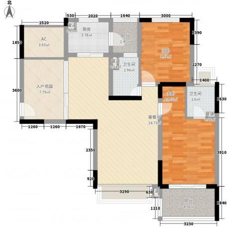凯迪公元2室1厅2卫1厨113.00㎡户型图