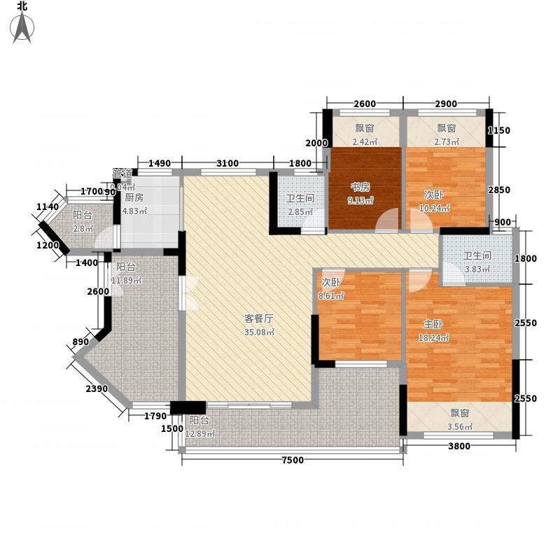 星悦豪庭186.00㎡星悦豪庭4室户型4室