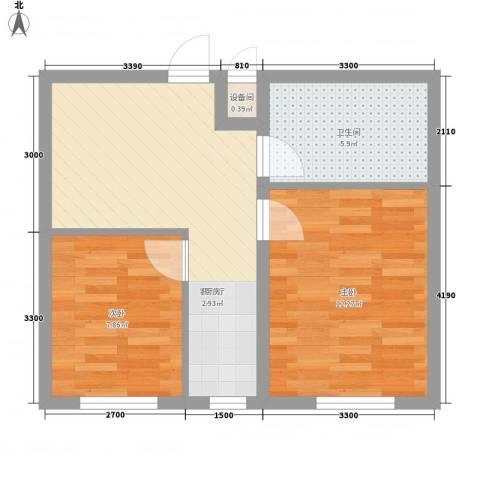 新城大厦2室1厅1卫0厨59.00㎡户型图
