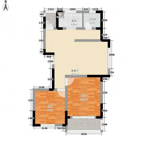 御源林城2室1厅1卫0厨92.00㎡户型图