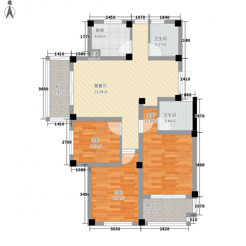 爱伦堡爱伦堡户型图小高层H2户型3室2厅2卫1厨户型3室2厅2卫1厨